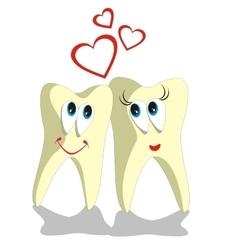 Tooth cartoon set 002 vector