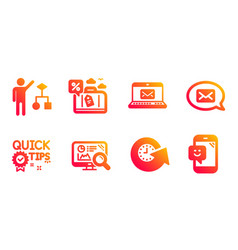 Travel loan algorithm and seo analytics icons set vector
