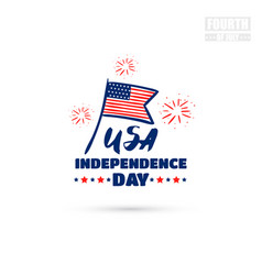 usa independence day badge vector image