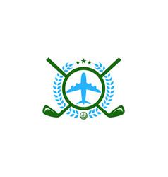 vacation golf logo icon design vector image