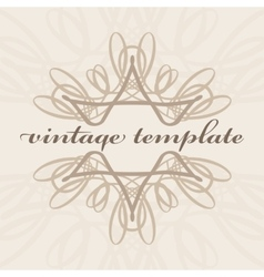 vintage curls vector image