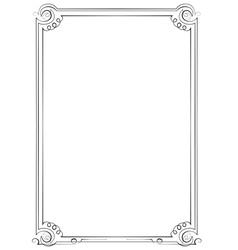 Vintage vertical frame vector