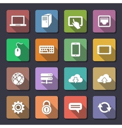 Web icons set Flaticons series vector image