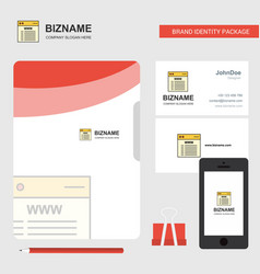 website business logo file cover visiting card vector image