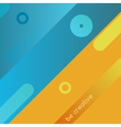 Yellow and blue background vector image