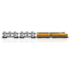 railway train 08 vector image vector image