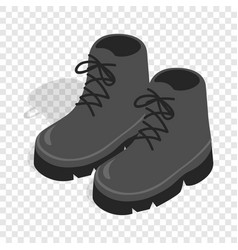 black boots isometric icon vector image vector image