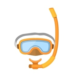 diver mask isolated on white vector image vector image