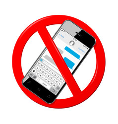 do not send messages do not use mobile phone vector image
