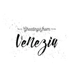 Greetings from Venezia Italy Greeting card with vector image