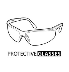 safety glasses for repair on a white background vector image