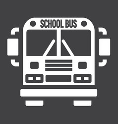 school bus solid icon transport and vehicle vector image vector image