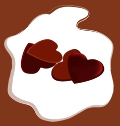 Valentines Day heart shaped chocolate vector image vector image