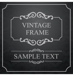 Vintage Frame with damask lace pattern vector image