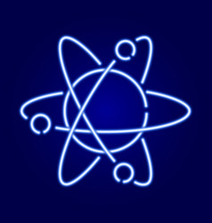 atom icon with orbits the nucleus and electrons vector image