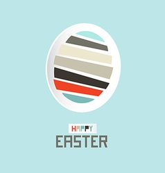 Easter Paper Cut Egg vector image vector image