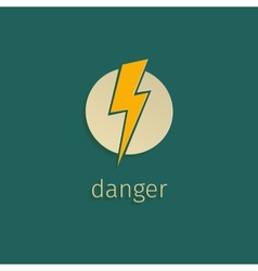 Flat lightning icon in retro style vector image vector image
