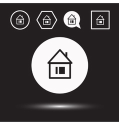 Houses icons set Logos housing vector image