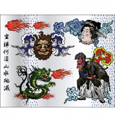 Japan tattoo vector