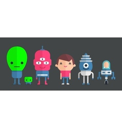 me and my friends aliens vector image vector image
