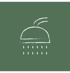 Shower icon drawn in chalk vector
