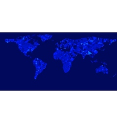 world map with glowing blue vector image