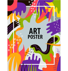 artistic colorful hand drawn poster flyer vector image vector image