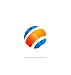 globe sphere planet technology logo vector image vector image