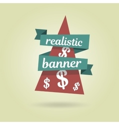 Realistic curved banner Special offer vector image