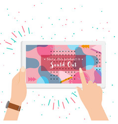 sold out on screen colorful background vector image vector image