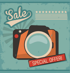 vintage camera photo picture special offer vector image