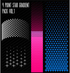 4 point star gradient pack vector