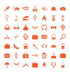 49 accessory icons vector