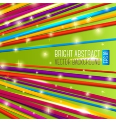 Abstract bright background with colorful laces vector image