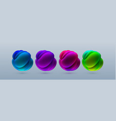 abstract composition with 3d spherical bubbles vector image