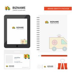 Ambulance business logo tab app diary pvc vector