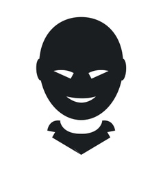 Anonymous face icon vector image