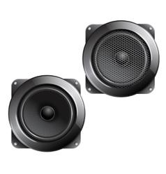 Audio speaker isolated vector image