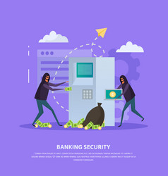 Banking security flat background vector