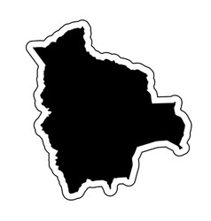 black silhouette of the country bolivia with the vector image