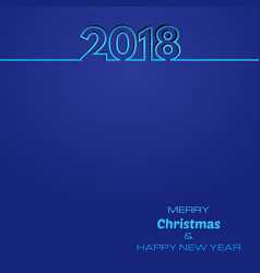 blue happy new year 2018 background royalty free vector