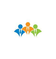 businessman logo vector image