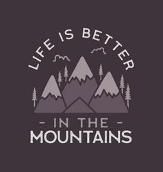 camping adventure logo emblem design vector image