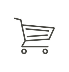 cart icon line buy basket symbol vector image