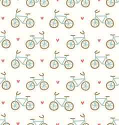 Cartoon bicycles pattern vector image
