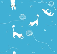 cats and balls vector image vector image