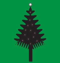 christmas of tree vector image
