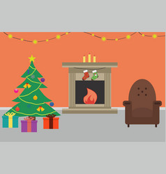 christmas room vector image