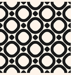 circles seamless pattern black and white texture vector image