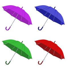 Colored umbrellas vector